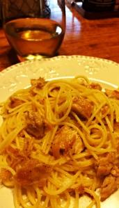 honey lemon chicken with pasta, gluten free
