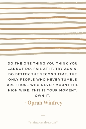 Advice from Oprah on Trying & Failure
