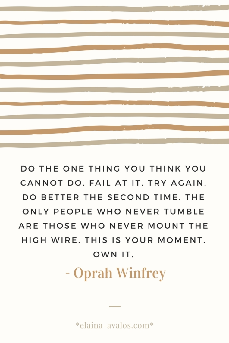 Oprah, Oprah Winfrey, dreams, leap of faith, trying, failure