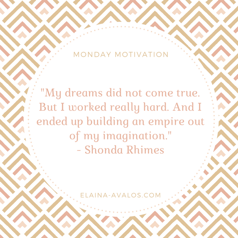 Shonda Rhimes, Monday Motivation, Writing, Writer,