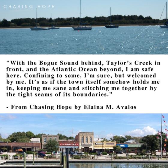 Taylors Creek, Beaufort NC, Crystal Coast, Beaufort, Chasing Hope, women's fiction, eastern NC