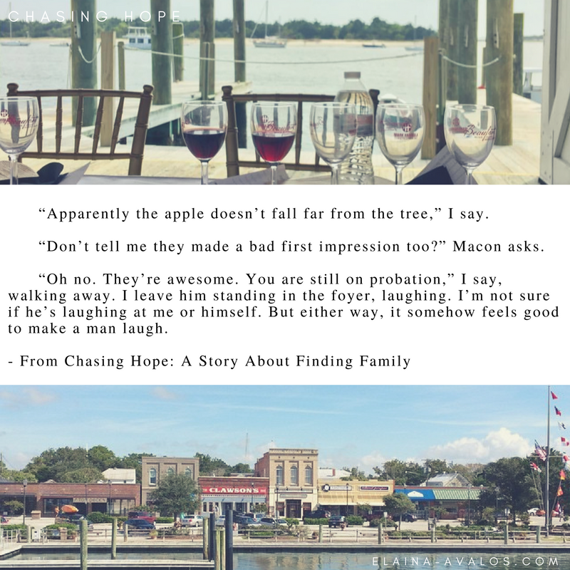 Chasing Hope, Beaufort NC, novel, women's fiction