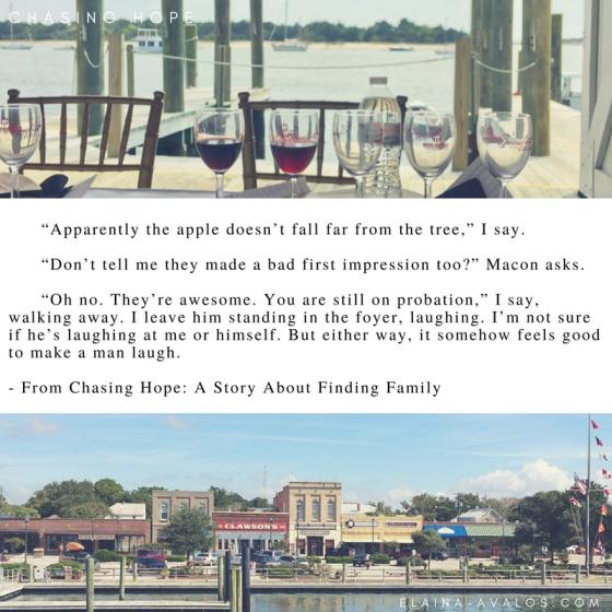 Chasing Hope, Beaufort NC, novel, women's fiction