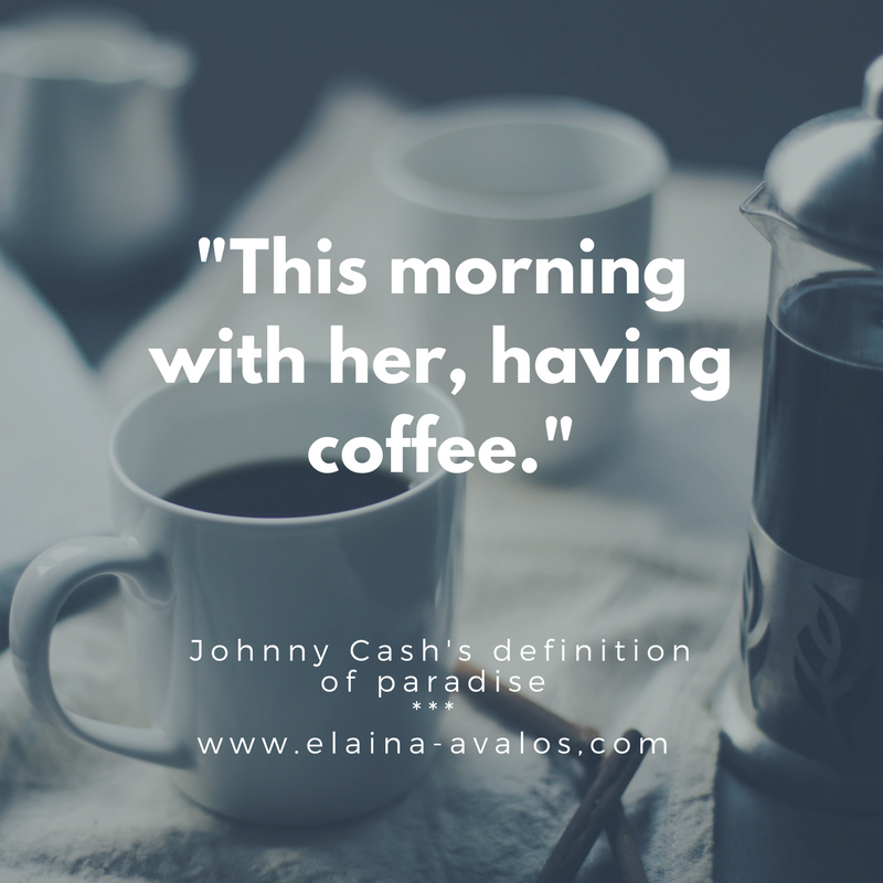johnny cash, elaina avalos, romance, coffee