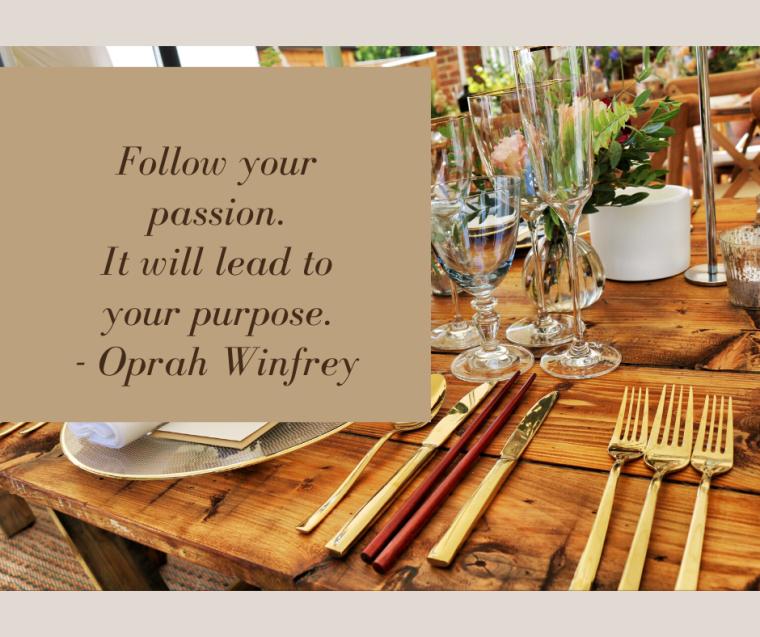 event planner, event management, wedding planner, coastal carolina events, elaina avalos, oprah winfrey, passion and purpose, passion