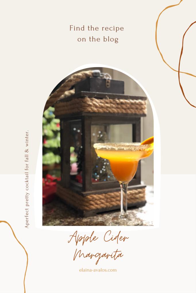 apple cider magarita, elaina m. avalos, elaina avalos, cocktail, pretty cocktail