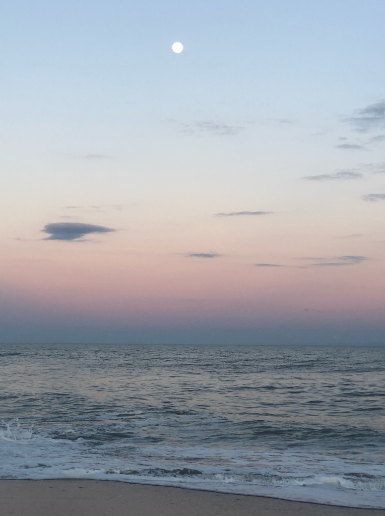 north topsail island, north topsail beach, pink moon, elaina avalos, elaina m. avalos