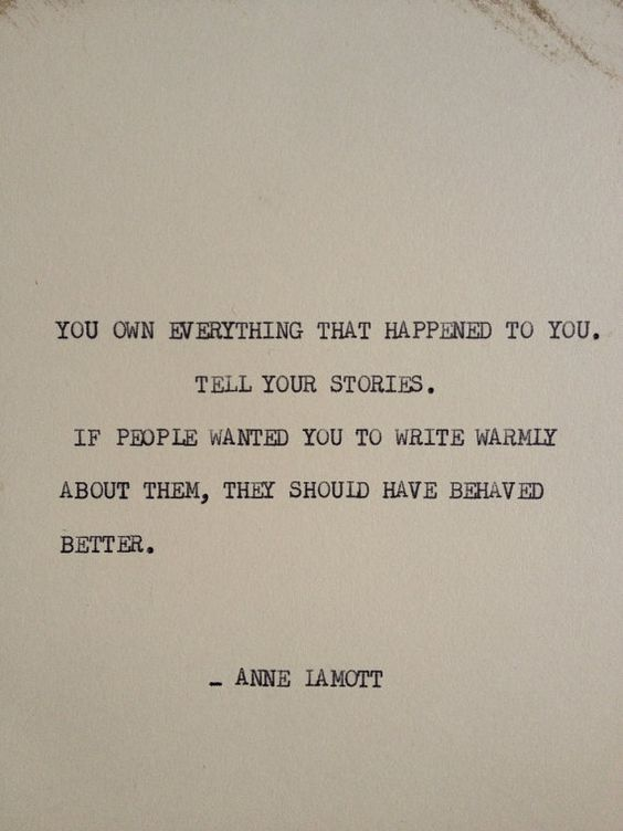 Anne Lamott, You Own Everything That Happened to You, Elaina Avalos, Elaina M. Avalos